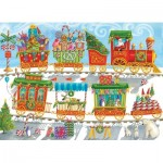 Puzzle  Cobble-Hill-54608 Pièces XXL - Christmas Train