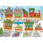 Puzzle  Cobble-Hill-54608 Pièces XXL - Christmas Train