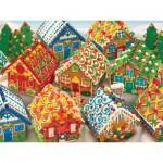 Puzzle  Cobble-Hill-54616 Chalets de Pain d'Epice