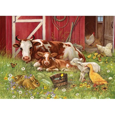 Puzzle Cobble-Hill-54630 Pièces XXL - Barnyard Babies