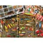 Puzzle  Cobble-Hill-57149 Pièces XXL - Fishing Lures