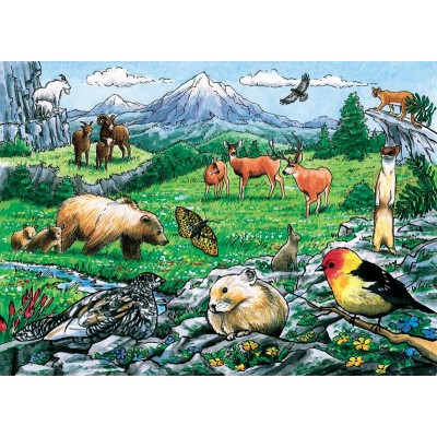 Cobble-Hill-58806 Puzzle Cadre - Rocky Mountain Wildlife