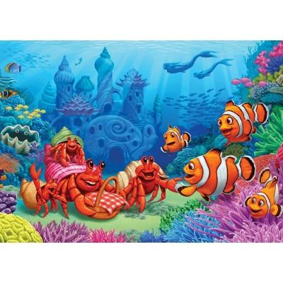 Puzzle Cobble-Hill-58882 Clownfish Gathering