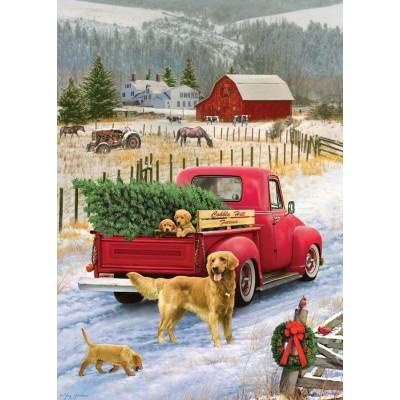 Puzzle Cobble-Hill-58891 Red Truck Farm
