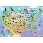 Cobble-Hill-58895 Puzzle Cadre - Carte des USA