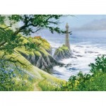 Puzzle  Cobble-Hill-80006 Summer Lighthouse