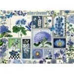 Puzzle  Cobble-Hill-80043 Blue Flowers