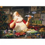 Puzzle  Cobble-Hill-80046 Santa Painting Cars
