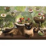 Puzzle  Cobble-Hill-80049 Terrarium Cat