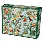 Puzzle  Cobble-Hill-80196 Fruit and Flutterbies