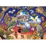Puzzle  Cobble-Hill-80220 Owl Magic