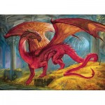 Puzzle  Cobble-Hill-80250 Red Dragon's Treasure