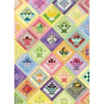 Puzzle  Cobble-Hill-80267 Fruit Basket Quilt