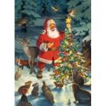 Puzzle  Cobble-Hill-80292 Santa's Tree