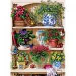 Puzzle  Cobble-Hill-85015 Pièces XXL - Flower Cupboard