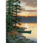 Puzzle  Cobble-Hill-85018 Pièces XXL - Canoe Lake