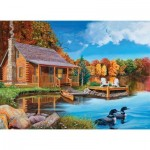 Puzzle  Cobble-Hill-85022 Pièces XXL - Loon Lake