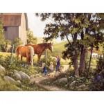 Puzzle  Cobble-Hill-85038 Pièces XXL - Summer Horses