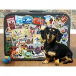 Puzzle  Cobble-Hill-85039 Pièces XXL - Dachshund 'Round the World