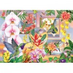 Puzzle  Cobble-Hill-85061 Pièces XXL - Hummingbird Magic
