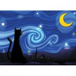 Puzzle  Cobble-Hill-85063 Pièces XXL - Mrowwy Night