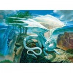 Puzzle  Cobble-Hill-85071 Pièces XXL - White Dragon
