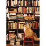 Puzzle  Cobble-Hill-85080 Pièces XXL - Gotham Bookstore Cats