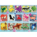 Puzzle  Cobble-Hill-85083 Pièces XXL - Origami Animals