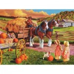 Puzzle  Cobble-Hill-88010 Pièces XXL - Hay Wagon