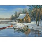 Puzzle  Cobble-Hill-88021 Pièces XXL - Winter Cabin