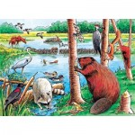 Puzzle Cadre - Beaver Pond Tray Puzzle