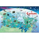 Puzzle Cadre - Carte du Canada