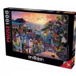 Puzzle  Perre-Anatolian-1098 Coastal Town at Sunset