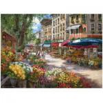 Puzzle  Perre-Anatolian-3106 Sam Park : Paris, Le marché aux fleurs