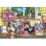 Puzzle  Perre-Anatolian-3574 Les Chats dans la Cuisine