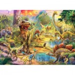 Puzzle  Perre-Anatolian-3603 Landscape of Dinosaurs