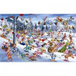 Puzzle  Piatnik-5351 Ruyer : Ski de Noël