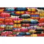 Puzzle  Piatnik-5487 Parapluies Colorés
