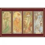 Piatnik-5576 Puzzle 1000 pièces métallisé - Klimt : Jeunes femmes