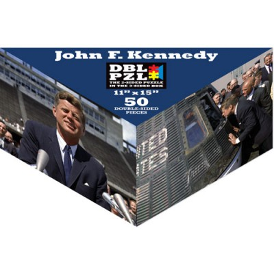 Pigment-and-Hue-DBLJFK-00904 Puzzle Double Face - John Fitzgerald Kennedy