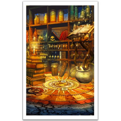 Pintoo-H1494 Puzzle en Plastique - Fantasy Magic Room