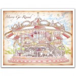 Pintoo-H1546 Puzzle en Plastique - Merry Go Round
