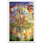 Pintoo-H1562 Puzzle en Plastique - Ciro Marchetti : Tarot Town