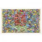Pintoo-H1672 Puzzle en Plastique - Mystical Castle