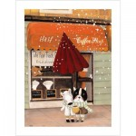 Pintoo-H1708 Puzzle en Plastique - Nan Jun - Half - Coffee Shop
