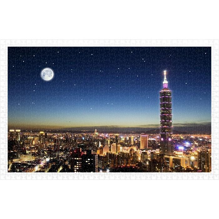 Puzzle en Plastique - Taipei Skyline