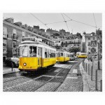 Pintoo-H1768 Puzzle en Plastique - Yellow Trams in Lisbon