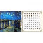Puzzle  Pintoo-H1778 Calendrier Showpiece - Van Gogh - Nuit Etoilée sur le Rhône