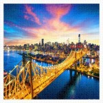 Pintoo-H1786 Puzzle en Plastique - Manhattan with Queensboro Bridge, New York