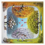Pintoo-H1925 Puzzle en Plastique - Jacek Yerka - Apple Tree